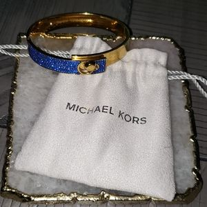 Michael Kors blue and gold bangle